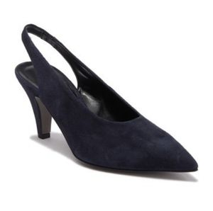 RabeccaMinkoff Simona suede pointed toe kitten  h